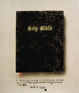Holy Bible State I (Unique Pettibon edition) Limited Edition Print - Edward Ruscha