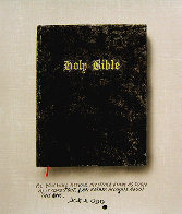 Holy Bible State I (Unique Pettibon edition) Limited Edition Print by Edward Ruscha - 0