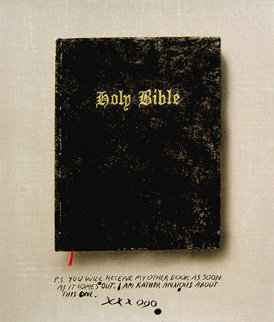 Holy Bible State I (Unique Pettibon edition) HS by Both Artists Limited Edition Print - Edward Ruscha