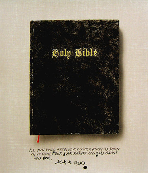 Holy Bible State I (Unique Pettibon edition) 2003 Limited Edition Print by Edward Ruscha