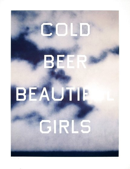 Cold Beer Beautiful Girls TP 2009 Limited Edition Print by Edward Ruscha