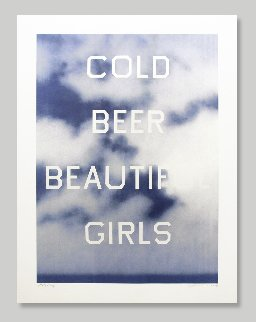Cold Beer Beautiful Girls TP 2009 Limited Edition Print - Edward Ruscha