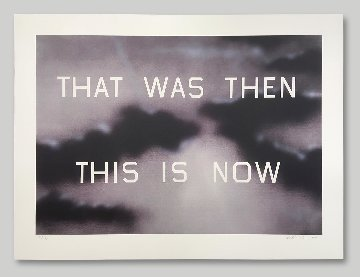That Was Then This Is Now 2014 Limited Edition Print by Edward Ruscha