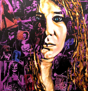 Janis Joplin 24x24  too high  Original Painting by Jay Russell