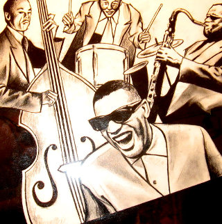 Ray Charles and the Band 14x11 Works on Paper (not prints) by Jay Russell
