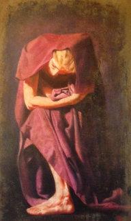 Violata 2003 46x28 Super Huge Original Painting - Tomasz Rut