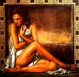 Girl With Greek Key 1998 38x38 Limited Edition Print by Tomasz Rut