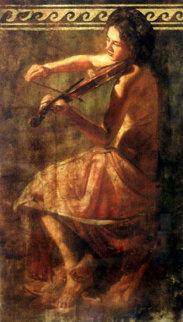 Girl With Violin Limited Edition Print - Tomasz Rut