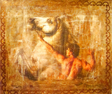 Untitled Man with Horse Limited Edition Print - Tomasz Rut