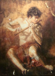 Boy with the Flute Limited Edition Print by Tomasz Rut