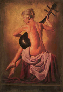 Canzona 52x36 Original Painting - Tomasz Rut