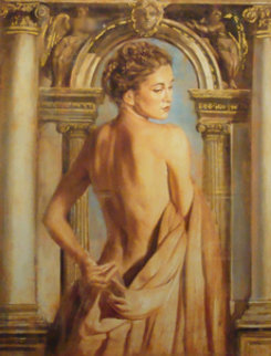 Girl with Column Limited Edition Print by Tomasz Rut