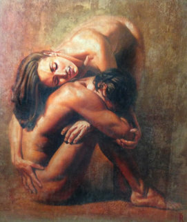 Eternita 1990 63x55 Original Painting - Tomasz Rut