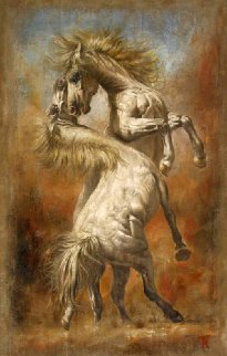 Tenacitas II 2015 43x27 Original Painting - Tomasz Rut