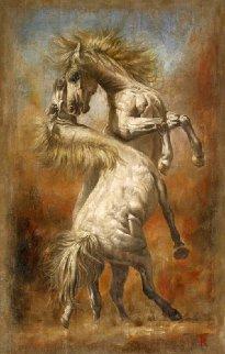 Tenacitas II 2015 43x27 Super Huge  Original Painting - Tomasz Rut