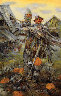 Russian Halloween 1996 16x11 Works on Paper (not prints) - Vladimir Ryklin