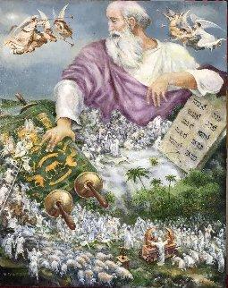 Moses, Passover Story, 2017 20x16 Original Painting - Vladimir Ryklin