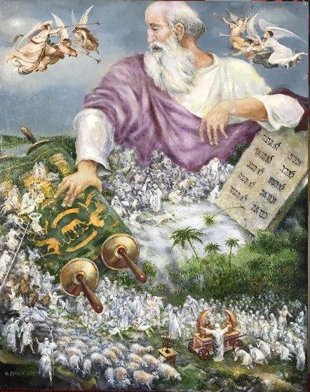 Moses, Passover Story, 2017 20x16 Original Painting by Vladimir Ryklin