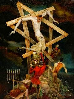 No Hope 1996 41x31 Huge Original Painting - Vladimir Ryklin