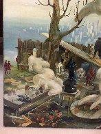 On a Backyard 1996 36x38 Huge Original Painting by Vladimir Ryklin - 3