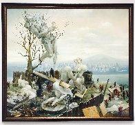 On a Backyard 1996 36x38 Huge Original Painting by Vladimir Ryklin - 2