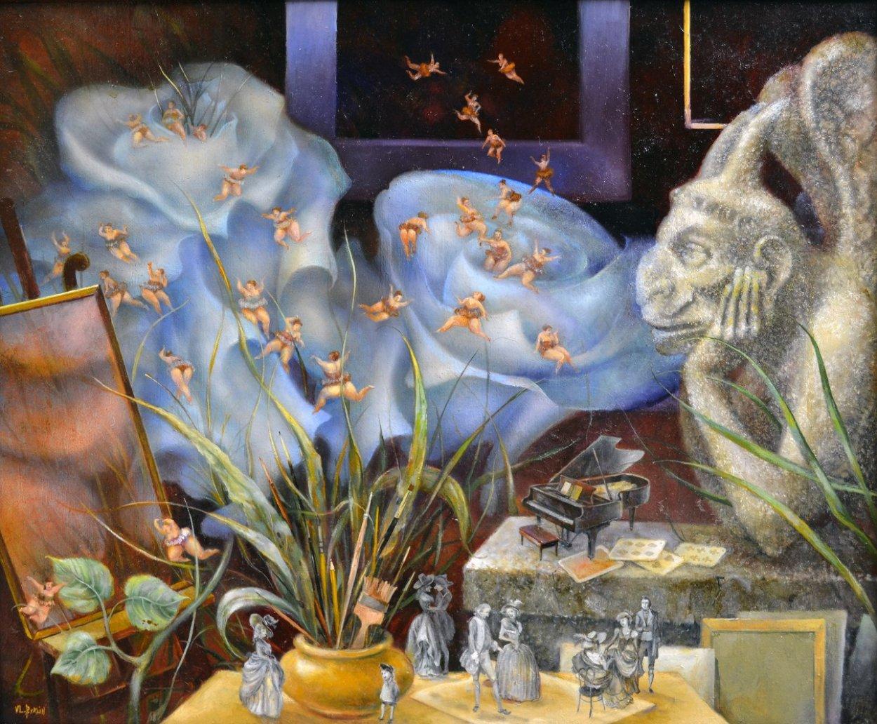 Gargoyle's Dream 2001 22x26 Original Painting by Vladimir Ryklin