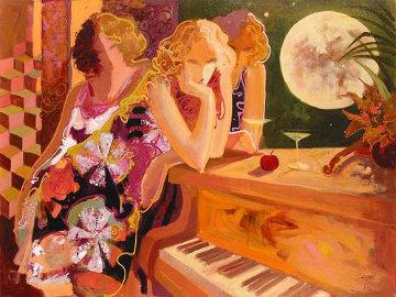 Magical Night 2006 36x48 Huge Original Painting -  Sabzi