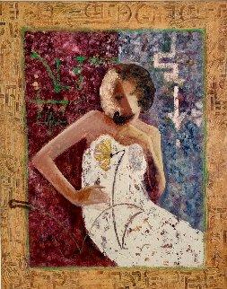Black Bird 1991 40x33 Huge Original Painting -  Sabzi