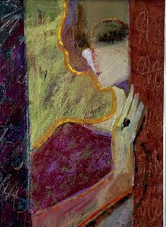 Untitled (Portrait of a Woman) 27x23 Original Painting by  Sabzi