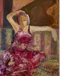 Untitled (Female Figure) 24x21 Original Painting by  Sabzi