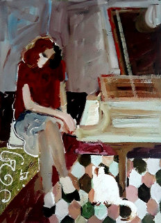 At the Piano 1997 Limited Edition Print -  Sabzi