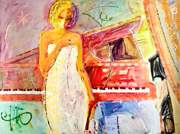 Woman & Piano Embellished  -  Sabzi