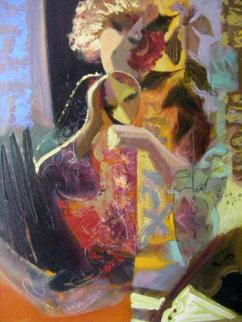 Thoughtful Reflection 30x24 Original Painting -  Sabzi
