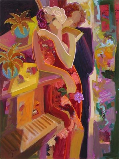 Passionate Touch 2007 52x42 Original Painting by  Sabzi