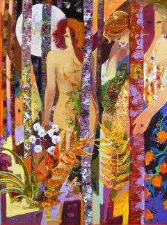 Enchanted Forest 2006 60x48 Huge Original Painting -  Sabzi