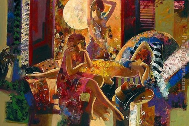 Summer Nights Embellished 44x66 Limited Edition Print by  Sabzi