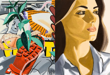Verdana With Hearts 2020 Limited Edition Print by David Salle