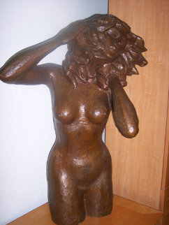Women in the Wind / Mujer en el Viento Bronze Sculpture 1978 41 in Sculpture by Victor Salmones