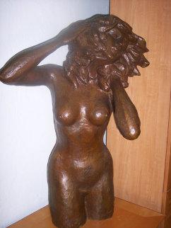 Women in the Wind / Mujer en el Viento Bronze Sculpture 1978 41 in Sculpture by Victor Salmones