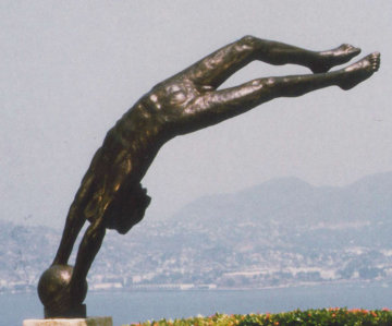 Cosmos Bronze Life Size Sculpture 100 inches Sculpture by Victor Salmones