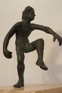 Action Bronze Sculpture 1977 12 in Sculpture by Victor Salmones