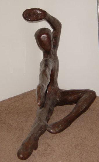 Bailarin Life Size Bronze Sculpture 1973 72 in Sculpture by Victor Salmones