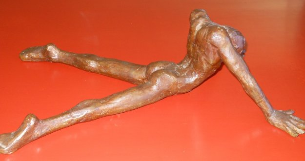Untitled Male Nude Bronze Sculpture 1976 16 in Sculpture by Victor Salmones