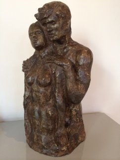 Los Amantes (The Lovers) Bronze Sculpture 1977 13 in Sculpture by Victor Salmones