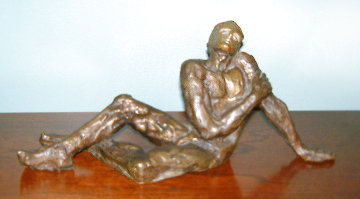 Dreamer (Sonador) Bronze Sculpture 1970 13 in Sculpture - Victor Salmones