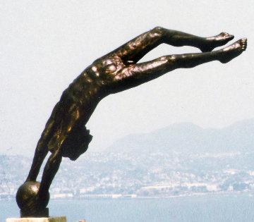 Cosmos Life Size   Bronze Sculpture 1980 100 in Sculpture - Victor Salmones