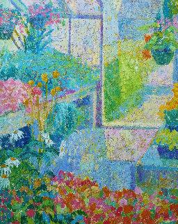 Greenhouse  1984 36x24 Original Painting - Sam Barber
