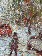 Rue  St. Denis 1997 40x34 Huge Original Painting by Samir Sammoun - 6