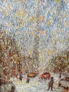 Rue  St. Denis 1997 40x34 Original Painting - Samir Sammoun