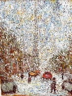 Rue  St. Denis 1997 40x34 Huge Original Painting by Samir Sammoun - 3